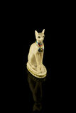 Egyptian cat statuette Royalty Free Stock Images