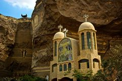Egyptian Cave Church Royalty Free Stock Photography
