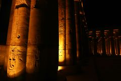 Luxor Temple - Egypt. Night view of Luxor Temple with night lights, Egypt Stock Photography