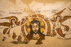 Egyptian Christian art in church wall in egypt. Middle east, africa Stock Photography