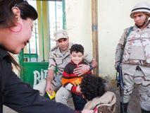 Egyptian Christian and Muslims share Egyptian revolution Stock Photo