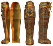 Egyptian coffins. 3D render of fantasy ancient Egyptian coffins Royalty Free Stock Image