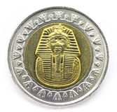 Egyptian coin Royalty Free Stock Photo