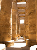 Egyptian column. In luxor temple Stock Photo