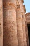 Egyptian Columns. Ancient Egyptian pillars in Luxor temple, Egypt Royalty Free Stock Photo