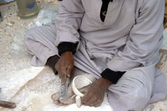 Egyptian craftsman making pots Royalty Free Stock Photography