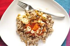 Egyptian cuisine - Kushary. Stock Photography