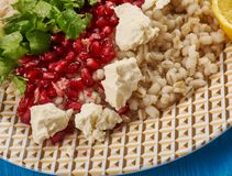 Egyptian Barley Salad with Pomegranate Vinaigrette Royalty Free Stock Images