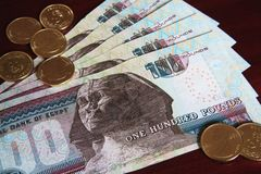Egyptian Currency Royalty Free Stock Images