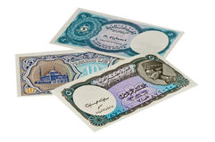 Egyptian currency Piastres Royalty Free Stock Images