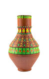 Egyptian decorated colorful pottery vessel (arabic: Kolla) Stock Photo