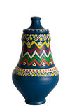 Egyptian decorated colorful pottery vessel (arabic: Kolla) Royalty Free Stock Photos