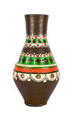 Egyptian decorated colorful pottery vessel (arabic: Kolla) Stock Photos