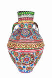 Egyptian decorated colorful pottery vessel (Kolla) Royalty Free Stock Image
