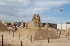Egyptian Deity Sculpture Stock Photography
