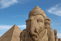 Egyptian Deity Sculpture Stock Image