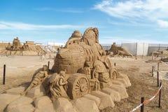 Egyptian Deity Sculpture Royalty Free Stock Photography