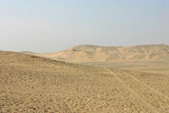 Egyptian desert in Giza Royalty Free Stock Photo