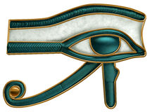 Egyptian Eye of Horus. Illustration of the ancient Egyptian Eye of Horus symbol Royalty Free Stock Image