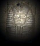 Egyptian Eyes. Spot lit Egyptian King water fountain with eyes that follow you royalty free stock photos