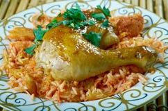 Egyptian Faatah Rice Stock Photo