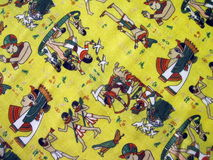 Egyptian fabric Royalty Free Stock Photos