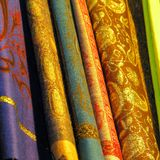 Egyptian Fabrics Stock Image