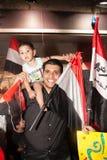 Egyptian family Sharing revolution Royalty Free Stock Photo