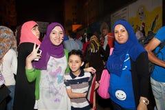 Egyptian family Sharing revolution Stock Photos