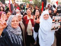 Egyptian family Sharing revolution Stock Photography