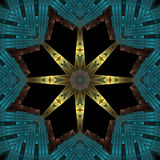 Egyptian filigree starburst. Abstract fractal image resembling an Egyptian filigree starburst Royalty Free Stock Image