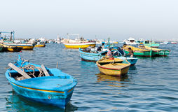 Egyptian fishermen Stock Image