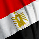 Egyptian Flag Closeup Royalty Free Stock Photos