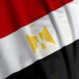 Egyptian Flag Closeup Royalty Free Stock Photo