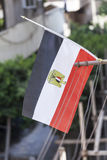 Egyptian Flag. Hanging from apartment balcony Stock Photos