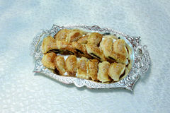 Egyptian food  baked snacks. An egyptian delicious baked food Stock Image