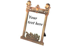Egyptian frame for text Stock Images