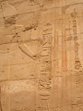 Egyptian fresco.Texture and background. Royalty Free Stock Photography