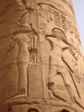 Egyptian fresco.Texture and background. Royalty Free Stock Photo
