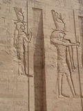 Egyptian fresco.Texture and background. Stock Photography
