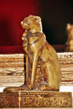 Egyptian funeral statue. Of the goddess cat bastet Royalty Free Stock Image