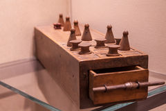 Egyptian Game of Senet Stock Image