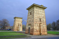 Egyptian gate in Pushkin (Tsarskoye Selo) Royalty Free Stock Photography