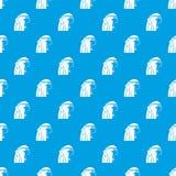 Egyptian girl pattern seamless blue. Egyptian girl pattern repeat seamless in blue color for any design. Vector geometric illustration royalty free illustration