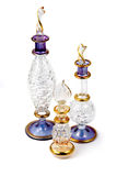 Egyptian glass bottles of perfume royalty free stock image