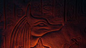 Egyptian God Anubis Lit Up From Below