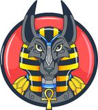 Egyptian god anubis vector picture Stock Photo