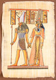 Egyptian God Horus with Queen Cleopatra Stock Image