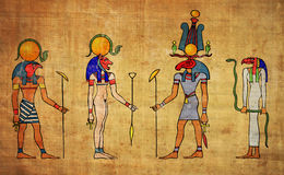 Egyptian gods ans goddess Stock Photo
