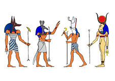 Egyptian gods and goddess Royalty Free Stock Images
